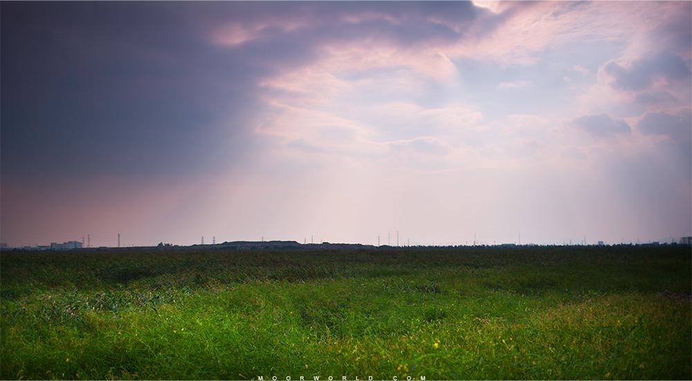 缺口,天光,风光,草地